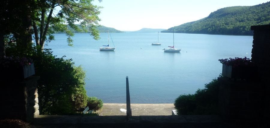 Image of Otsego Lake, Council Rock, Cooperstown NY