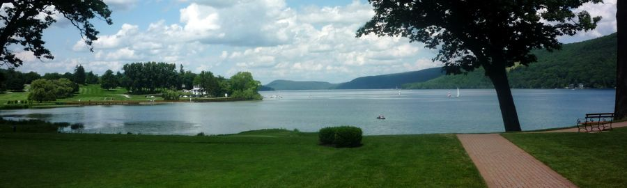Otsego Lake View from Otesaga Resort Hotel, Cooperstown NY
