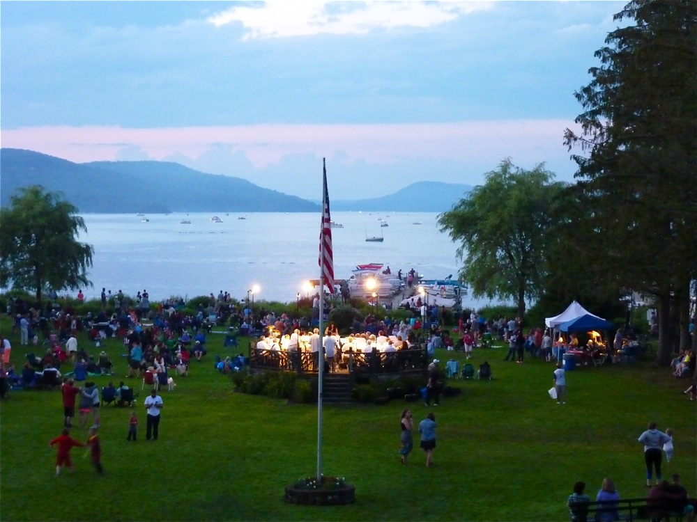 4th of July at Lakefrot Park in Cooperstown NY.