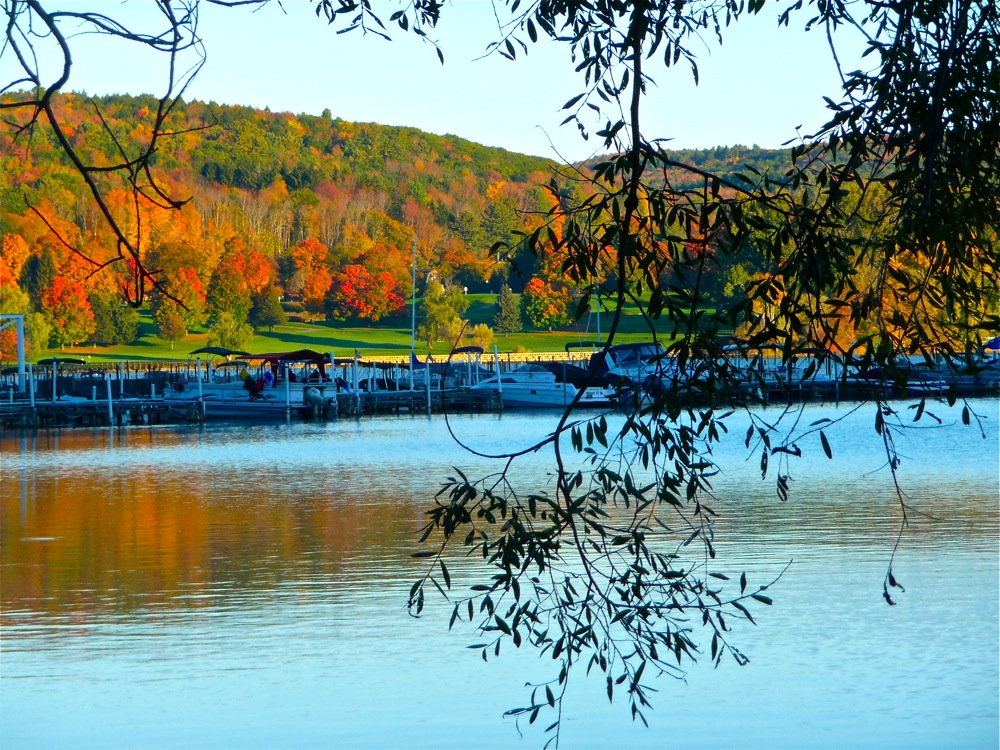Cooperstown NY during the fall foliage season