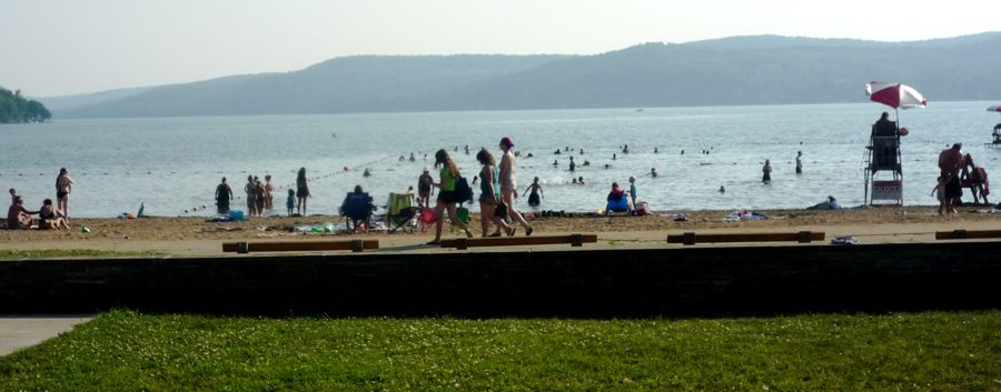 Glimmerglass Beach at Glimmerglass State Park, Cooperstown NY