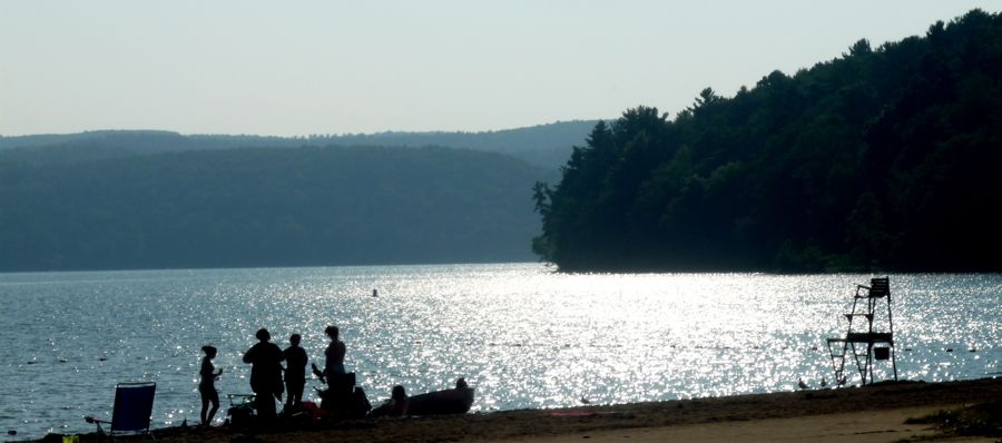 Summer at Glimmerglass Beach, Cooperstown NY