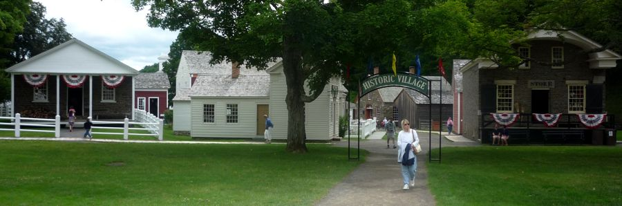 The Farmer's Museum Historic Village entrance photo, Cooperstown NY